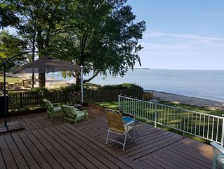 Lakefront House with private beach on lake Huron