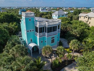 Happy Hours Beach House - Your Happiness Begins Here - Luxury, Pool, 2 Golf Cart