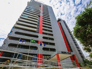 Flat com vista pro Mar e Serviços de Hotelaria em Boa Viagem