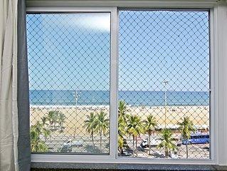 Copacabana lindo apartamento temporada 4 quartos, vista frontal  até 15 pessoas