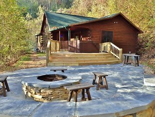 Free Railroad Tours - Secluded Cabin with Peaceful Patio and Hot Tub
