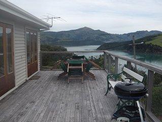Wonderful views, looking down over Akaroa