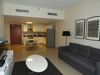 1-bedroom apartment for daily rent in Abu Dhabi, UAE.