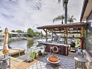 Waterfront Port Richey Home w/ Tiki Bar & Pool!