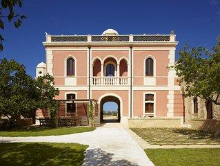 VILLA PIZZORUSSO Historic Luxury Villa Farmhouse, Central to Puglia's Top Sights