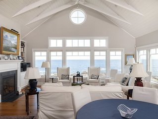 6 Point Road is directly on the rocky coast of Cape Elizabeth. This luxury Maine