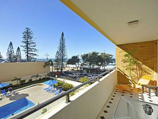 'ON THE BEACH'- 2 br Absolute Beachfront Surfers Paradise