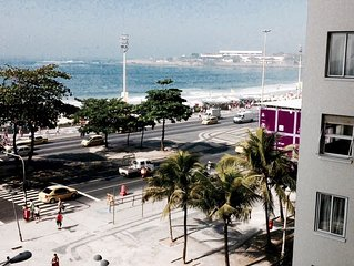 Charmoso Studio, dois ambientes,  vista panoramica para a praia de Copacabana