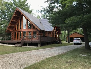 Beautiful log home with lake view and close to ORV, hiking, & snowmobile trails