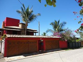 Casa 5 suites proximo a praia, piscina, quadra de voley, salao  de Jogos wifi