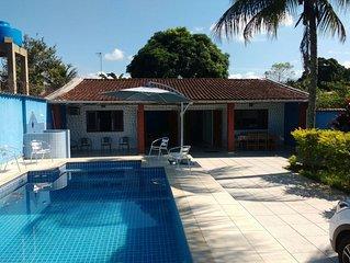 Casa em Boraceia II c/ Piscina 3 Quartos c/ 2 Suites, Mesa de Bilhar, 4banheiro