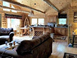 5 Bedroom Luxury Mountain Cabin on 20 Acres!