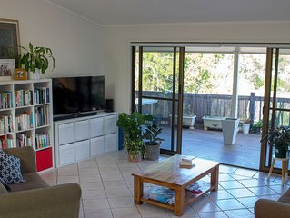 Elevated family home with pool, mountain views, walk to Noosa Main Beach