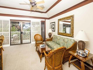 Roomy Lanai+Choice View! Kitchen Ease, WiFi, Ceiling Fans–Kiahuna Plantation #20
