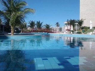 Apartamento 3 suites Frente Mar em Resort ao lado do Beach Park
