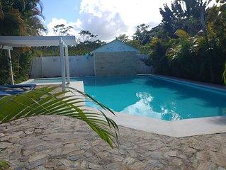 Belle villa dans jardin tropical au calme