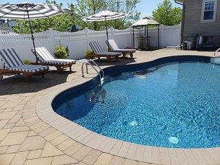 2 Blocks 2 Boardwalk w/in ground saltwater Pool & resort stile patio furniture!!