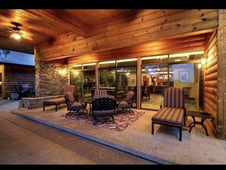 Luxury cabin downtown Helen sleeps 25+