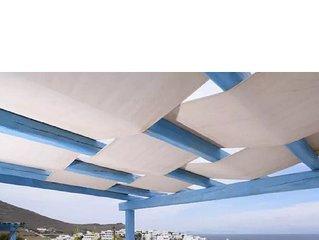 Paros Piso Livadi sea view villa Maisonette