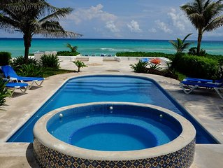 Caribbean Beach Front Villa with Private Pool and Staff!