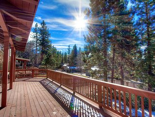Gated Community Cabin w/BBQ on Large Deck, Private Beach, (NVH0623)