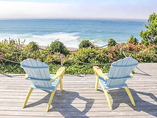 Luxurious Three-Suite Oceanfront Home with Hot Tub & Panoramic Ocean Views