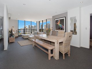 Immaculate 3 Bedroom Apartment Central Gold Coast. Modern Stylish