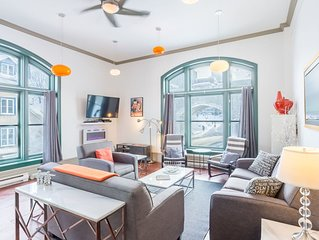 Central, Spacious, Luminous 3 Bedroom Condo in the Heart of Old Quebec