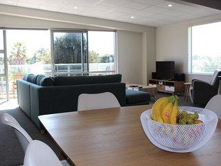 Rehutai Apartment 1, modern Waihi Beach apartment