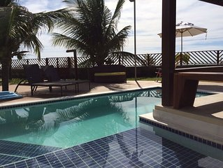 Bangalô a Beira Mar com piscina Privativa