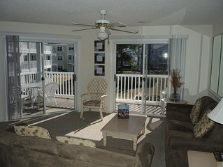 Full Kitchen, Washer/Dryer, Pool View, 27 hole Golf Course on site.Sunset Beach