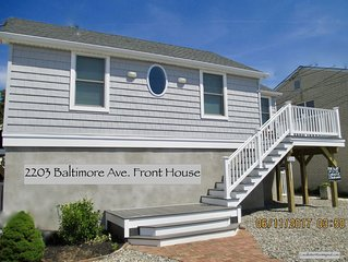 LAVALLETTE Beach Home w/Rooftop Deck & Tiki Bar Close to Beach -Wifi, C-A/C