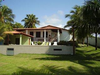 Excelente casa de Praia com Piscina, Quiosque, churrasqueira e jardim