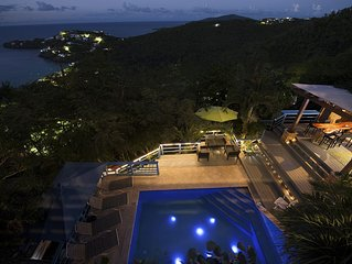 New to St. Thomas USVI:  Relax poolside at Villa with a View at Hull Bay!