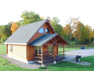 Beautiful Real Log Cabin in the Finger Lakes Overlooking Seneca Lake
