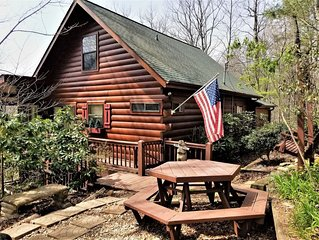 Hot tub, pet friendly, Great view of the North Georgia mountains! 15 minutes to