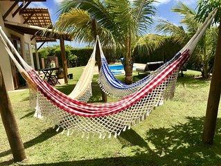 Lindo Chale na Villa SanDunes perto do Parque Ma Noa e Maracajau KiteCenter
