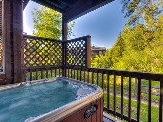 Contemporary & Spacious Condo W/ Hot Tub; 1mi from Downtown, Private Hot Tub