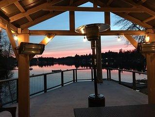 HOLIDAY SPECIAL 'Main Lodge' on long lake  110' beachfront sleeps 25+