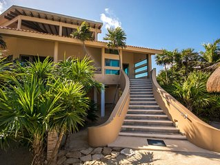 Soliman - 4BR Huge Beach-Front Home w/360 jungle view