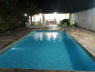 Casa Com Piscina Jd Indaia - Bertioga  2 Quadras Da Praia