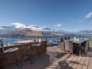Stunning panoramic lake and mountain views