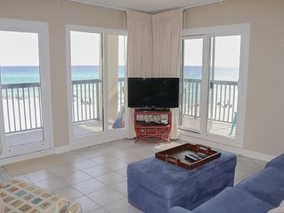 New Owners!  3 bedroom/3 bathroom beach front condo with wrap around balcony
