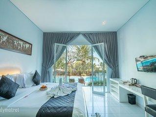 2 Luxury deluxe rooms with 4 breakfast in Ubud area