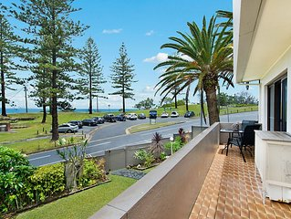 Rainbow End Unit 2 Balcony with ocean views overlooking Rainbow Bay Coolangatta
