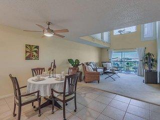 3 bedroom 3 bath 2 Level Condo w/ Gulf Access, Pool, Boat Slip and Gulf VIEW