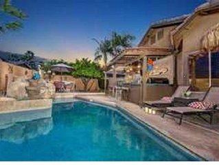 Entertaining back yard with heated pool.