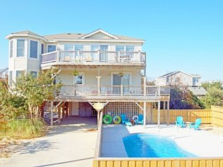 OCEANSIDE WITH PRIVATE SALTWATER POOL HOT TUB AND JUST 350 YARDS TO THE BEACH