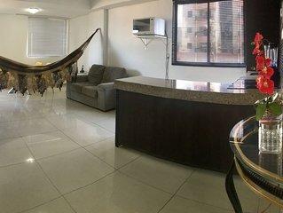 FLAT BEIRA MAR MARINAS PRAIA CABO BRANCO - 2 quartos, para sentir-se em casa.