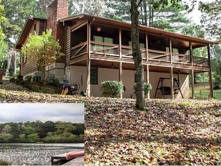 'At Waters Edge' 3 bedroom cabin directly on the lake with dock.